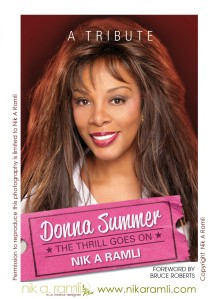 NIK A RAMLI book cover publicity DONNA SUMMER THE THRILL GOES ON A TRIBUTE