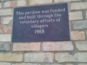 Pavilion Plaque