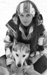 Saffra with dog